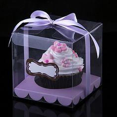 Transparent Cupcake Box Clear Cake Box With Sticker And Insert Wedding Cupcake Box Babyshow Party Cup Cake Boxes Cupcake Favors, Cupcake Boxes, Cupcake Wrappers, Summer Wedding Favors, Wedding Favor Boxes, Themed Cupcakes, Wedding Cupcakes, Square Cupcakes, Elegant Cupcakes