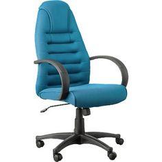 Sillón de oficina fabricado en tela de malla color azul y con apoyabrazos de polipropileno.  Ayuda a mejorar la postura.  Con mecanismo de elevación a gas.
