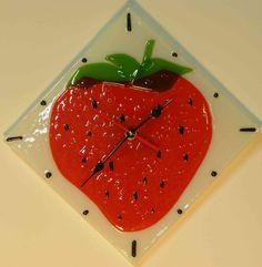 Часы настенные интерьерные из стекла в технике фьюзинг (Fusing glass): Серия H1 (220X220мм)
