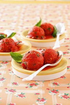 Sorbet tomate-basilic à l'huile d'olive