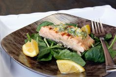 Grilled Salmon with Meyer Lemon Compound Butter. makes for a healthy and zesty dinner!