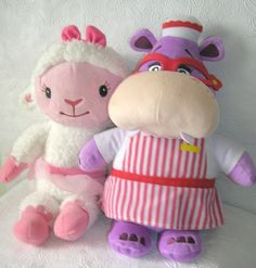 Disney Doc McStuffins Hug & Cuddle Talking Plush Hallie & Lambie. Hallie & Lambie comes to life and talk. Both are in excellent used working condition.   eBay!