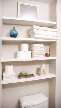 Pocket Shelves Bathroom Makeovers On A Budget Simple Makeover Small Ideas