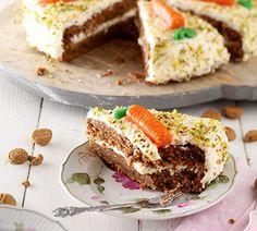Het recept van de cover van Hallo Jumbo nr. 11-2013: Feestelijke worteltaart (of - even lekker - worteltjestaart :-) #carrotcake