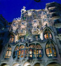Anton Gaudi, Barcelona's renowned art nouveau artist/architect, designed this surreal Casa Battlo