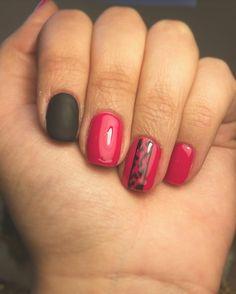 Esmaltado permanente, uñas matte, fucsia, diseño leopardo, negro matte, cool nails, design Nails Design, Pink Nails, Cool Stuff, Beauty, Enamels, Pink Nail, Nail Pink