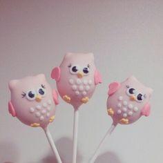 Owl cake pops...
