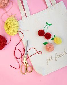 DIY: จ่ายตลาดอย่างสนุก ด้วยถุงผ้าผลไม้จากปอมปอมไหมพรม | Blisby บล็อก