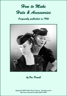 1946 Millinery Book Make Hats Make Gloves Bags by schmetterlingtag, $16.99