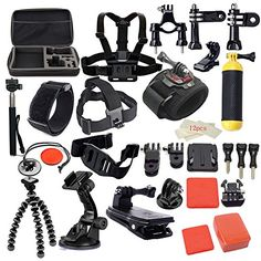 MCOCEAN 42-in-1 Sports Camera Kit for GoPro Hero 5 / Session 5/4/3/3 /2/1 Accessories Kit *** Want to know more, click on the affiliate link Amazon.com.