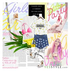 """""""No 196:Party (Yesstyle.com) (@lovepastel)"""" by lovepastel ❤ liked on Polyvore"""