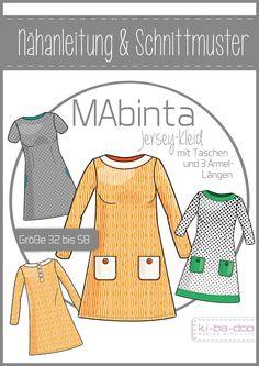 A-Linien-Kleid MAbinta - DIN A 0 Schnittmuster und Anleitung als Broschüre