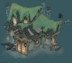 Colored Pirate Tavern by Brandonstarr.deviantart.com on @deviantART