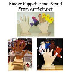 Finger Puppet Hand Stand from Artfelt.net