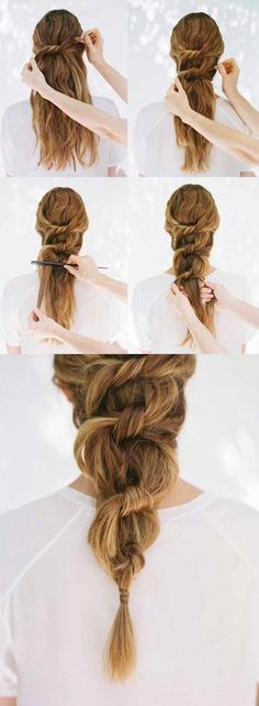 Hairstyles Step By Step Very Simple And Beautiful For School - trendstutor - Frisuren Braided Hairstyles Updo, Ponytail Hairstyles Tutorial, Wedding Hairstyles Tutorial, Wedding Hairstyles For Long Hair, Easy Hairstyles, Beautiful Hairstyles, Hairstyle Tutorials, School Hairstyles, African Hairstyles
