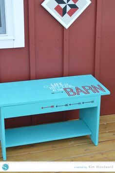 Life is better at the barn bench - created