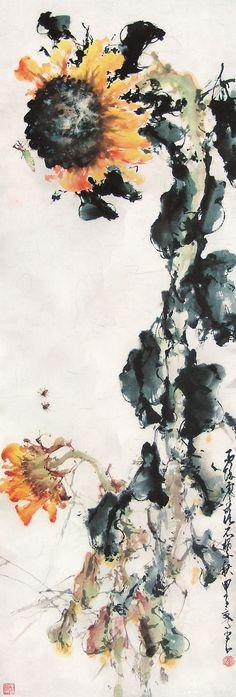 Zhao Shao-an (趙少昂) , 向日葵