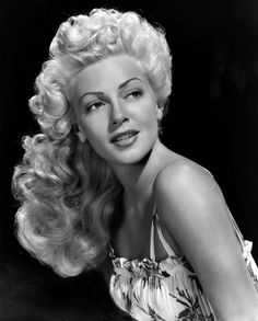 Lana Turner and her lovely locks, 1940s