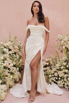 Satin Dresses, Bridal Dresses, Strapless Dress Formal, Prom Dresses, Corset Wedding Dresses, White Formal Dresses, Draped Dress, The Dress, Bridal Collection