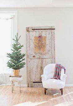 Simple chic winter home decor                                                                                                                                                                                 More