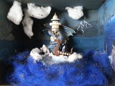 Storm at sea. In 3D