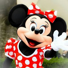 Minnie Mouse waving hello to the visiting guests.