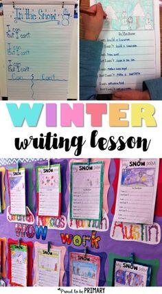 Snow Poetry Writing Activity