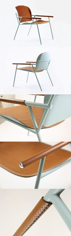 Ariel Chair - a lounge chair inspired by the classic fixed bicycle.