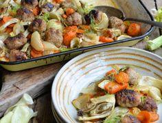 Turkey Meatball Traybake