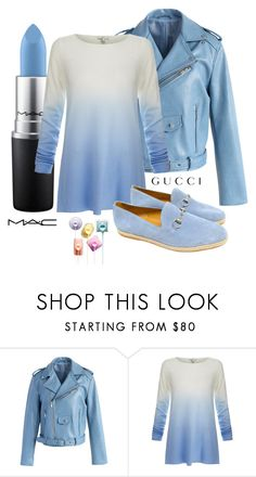 """""""Les blues"""" by nurinur ❤ liked on Polyvore featuring Chicwish, MAC Cosmetics, Joie and Gucci"""