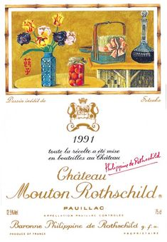 Etiquette Mouton Rothschild 1991 SETSUKO