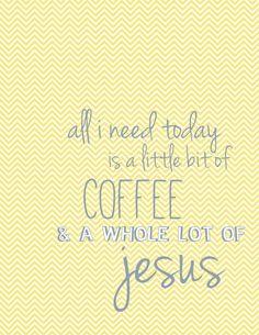 NEW Coffee and Jesus VintageInspired Print  by PeacefulJoyDesigns