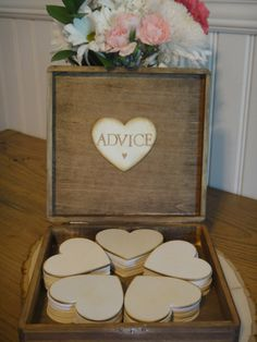 Rustic Advice Box Guest Book Alternative 150 Guests. $72.50, via Etsy.