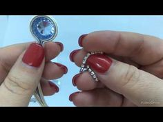 Tutorial inserimento catena strass con Materiale di Semplici Bijoux - YouTube Soutache Tutorial, Soutache Jewelry, Beaded Embroidery, Gemstone Rings, Creations, Turquoise, Drop Earrings, Handmade, Etsy