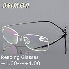 05dab1c6c8ca Reading Glasses Men Women Rimless Ultra-Light Magnetic Presbyopic Eyeglasses  For Male Female 1.0 1.5