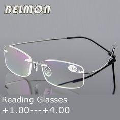 c6bd9740eb82e Reading Glasses Men Women Rimless Ultra-Light Magnetic Presbyopic  Eyeglasses For Male Female 1.0 1.5