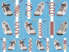 Diferentes maneras de atar los cordones de tus zapatos