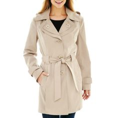 Avanti Belted Rain Coat  found at @JCPenney