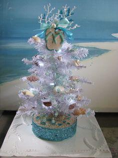 Custom Order Seashell Christmas Tree White by CeShoreTreasures