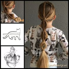 Braids into a bubble ponytail with a cute cat hairclip from the webshop www.goudhaartje.nl (worldwide shipping). Hairstyle inspired by: @girlzhaircreations (instagram) #hair #hairstyle #braid #braids #ponytail #bubblebraid #haar #vlecht #vlechten #hairclip #girl #hairstylesforgirls #plait #trenza #peinando #beautifulhair #gorgeoushair #stunninghair #hairaccessories #hairinspo #braidideas #longhair #longhairdontcare #goudhaartje