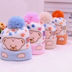Cashmere Soft Beanie Bear Cap For Babies Would you like to have it for your little one?