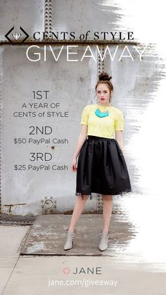 "GIVEAWAY: Cents of Style has got your back ladies! One item a month for an entire year, talk about the ultimate giveaway! But it gets even better… it's an item of YOUR choice. Yes, I am talking guilt free ""spending"" once a month. Um can you say awesome? Enter now on our Giveaway Page **Click through to enter!**"