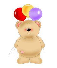 Birthday Balloon Bear Clip Art - Birthday Balloon Bear Image