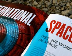 Kennedy Space Center Annual Report (concept work) ~Cassie Ball #design #layout Annual Report Design, Kennedy Space Center, Creative Industries, Design Inspiration, Cassie, Layout, Behance, Platform, Book