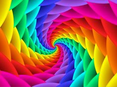"""""""Psychedelic Rainbow Spiral"""" by kittybitty, 2013 , Rainbow Wallpaper, Colorful Wallpaper, Spring Wallpaper, Spiral Logo, Rainbow Swirl, Rainbow Quilt, Rainbow Room, Rainbow Art, Rainbow Images"""