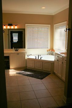 """Possible 18"""" tile look and idea of using cabinet door as access panel"""
