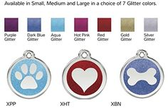 Red Dingo Stainless Steel with Glitter Pet I.D. Tag -- You can get more details by clicking on the image.