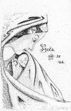 God's Gift Card by JanetAndersonArt on Etsy, $3.00