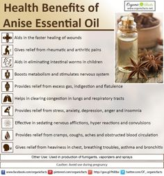 How and Why to Use an Essential Oils Nebulizer Use of anise essential oil boosts metabolism and stimulates nervous system. It has many other health benefits. Read more on Calendula Benefits, Lemon Benefits, Benefits Of Coconut Oil, Health Benefits, Health Tips, Star Anise Benefits, Aromatherapy Benefits, Aromatherapy Recipes, Ginger Essential Oil