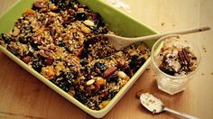 Vegan Granola, Cereal Bars, Sweet Recipes, Acai Bowl, Food And Drink, Sweets, Homemade, Vegetables, Eat